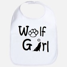 Cute Wolf girl Bib
