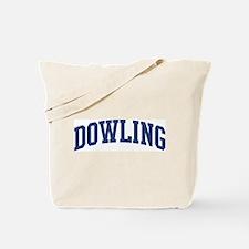 DOWLING design (blue) Tote Bag