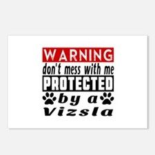 Protected By Vizsla Postcards (Package of 8)