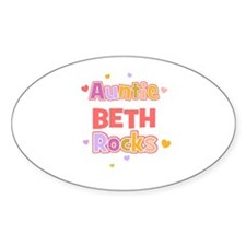 Beth Oval Decal