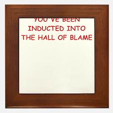 blame Framed Tile