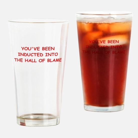 blame Drinking Glass