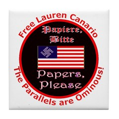Free Lauren-2 Tile Coaster