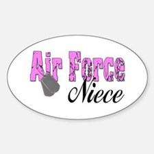 Air Force Niece Oval Decal