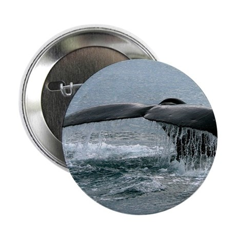 "Whale Fluke 2.25"" Button (10 pack)"