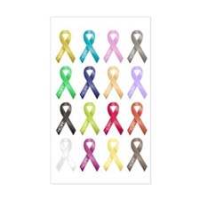 Support Ribbons Rectangle Decal