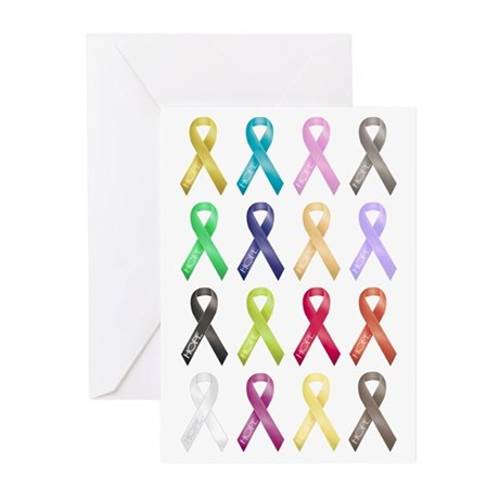 Support Ribbons Greeting Cards (Pk of 10)