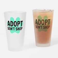 Cute Save a life adopt a pet adoption animal rescue Drinking Glass