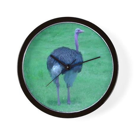 ostrich 5 Wall Clock