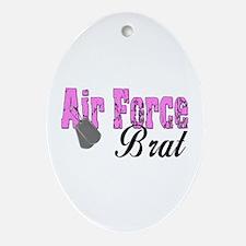 Air Force Brat ver1 Oval Ornament