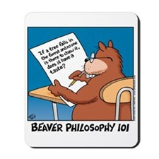 Beaver Philosophy 101 Mousepad