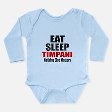 Eat Sleep Timpani Long Sleeve Infant Bodysuit
