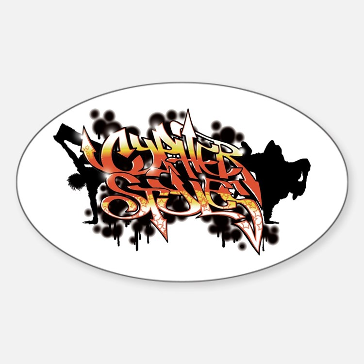 High Rez CS Graffiti Oval Decal