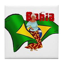 Bahia Brazil Flag Tile Coaster