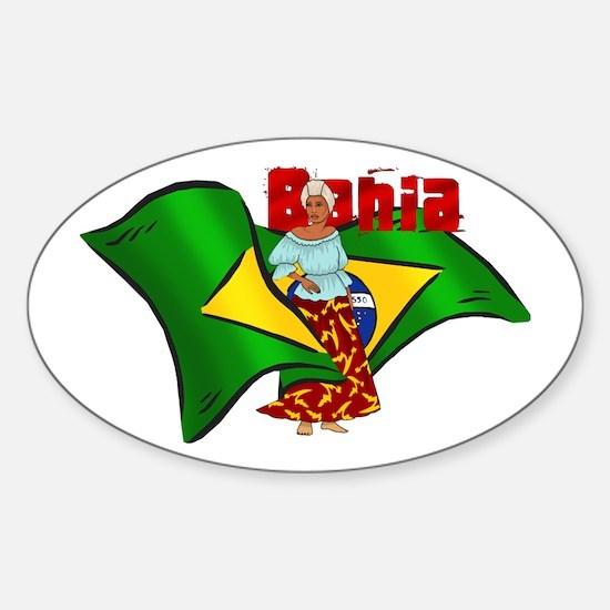 Bahia Brazil Flag Sticker (Oval)