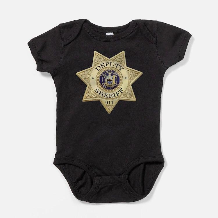 Cute New york police Baby Bodysuit