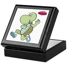 Turtle Playing Frisbee Keepsake Box