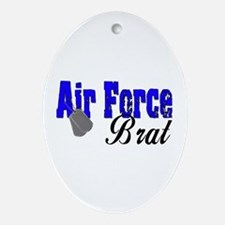 Air Force Brat ver2 Oval Ornament