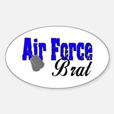 Air Force Brat ver2 Oval Decal
