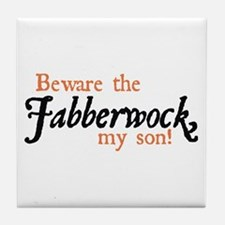 Beware the Jabberwock Tile Coaster