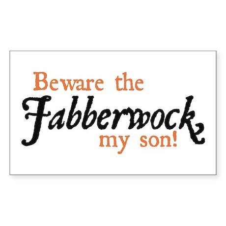 Beware the Jabberwock Rectangle Sticker