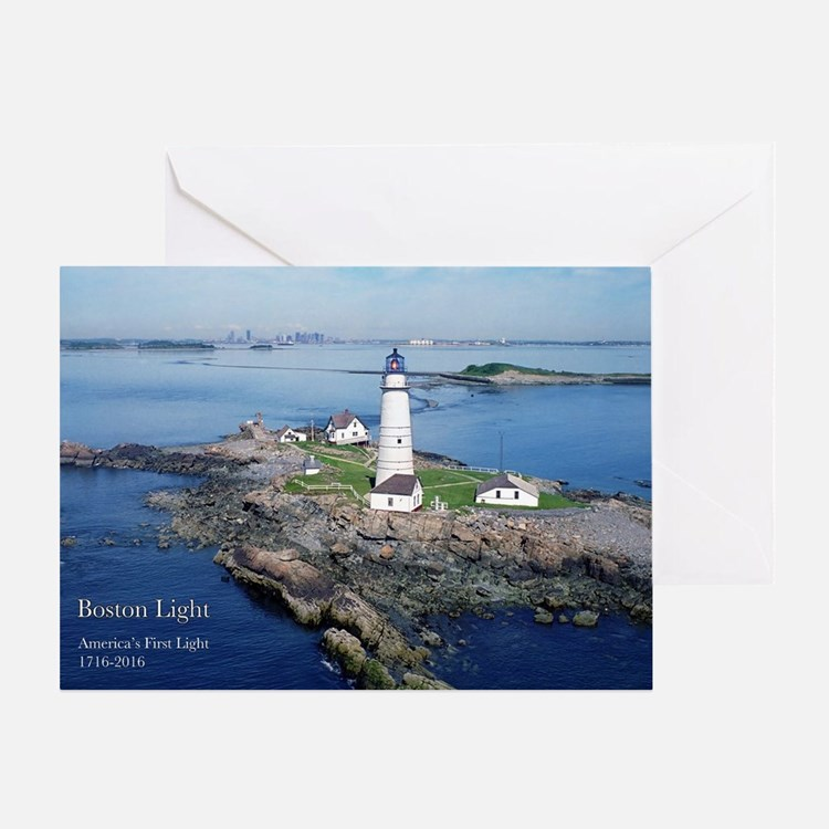 Cute Boston lighthouse Greeting Card