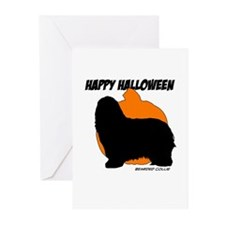 Bearded Collie Halloween Greeting Cards (Pk of 10)
