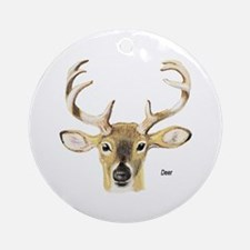 Deer Antler Ornament (Round)