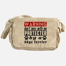 Protected By Skye Terrier Messenger Bag