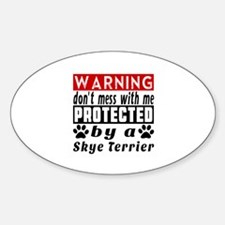 Protected By Skye Terrier Decal