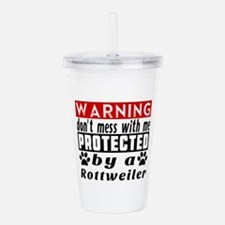 Protected By Rottweile Acrylic Double-wall Tumbler