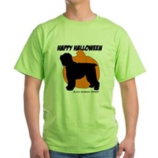 Blk Russian Terrier Halloween T-Shirt