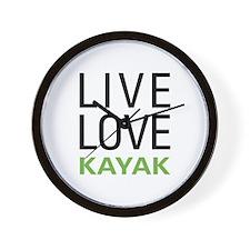 Live Love Kayak Wall Clock