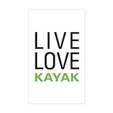 Live Love Kayak Rectangle Decal