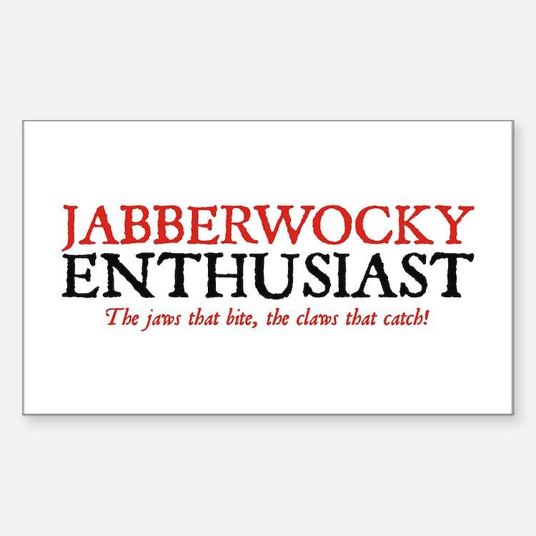 Jabberwocky Enthusiast Rectangle Decal