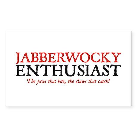 Jabberwocky Enthusiast Rectangle Sticker