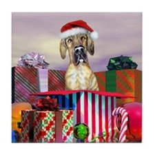 Brindle UC Dane Claus Tile Coaster