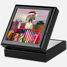 Brindle UC Dane Claus Keepsake Box
