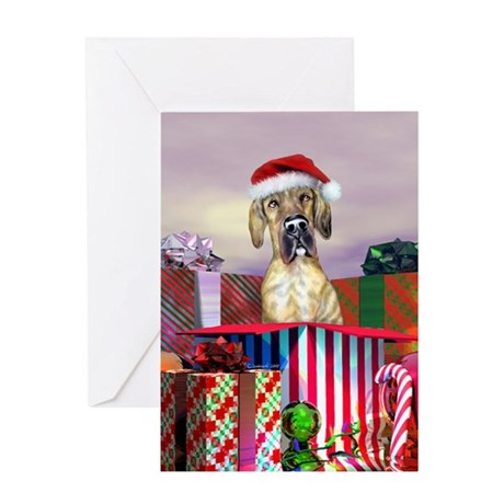 Brindle UC Dane Claus Greeting Card