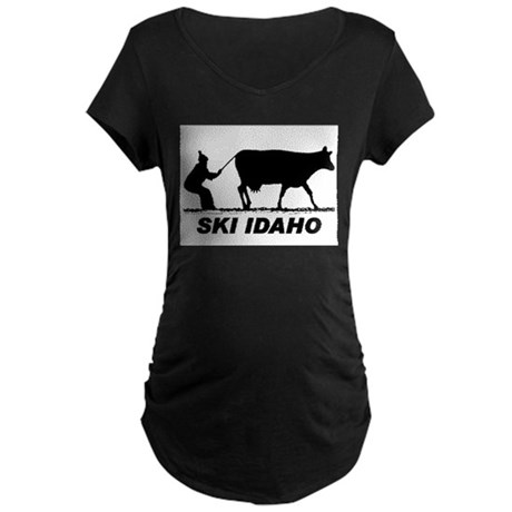 The Ski Idaho Shop Maternity Dark T-Shirt