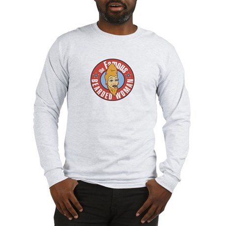 Bearded Woman Long Sleeve T-Shirt