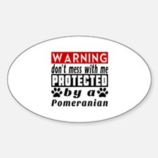 Protected By Pomeranian Decal
