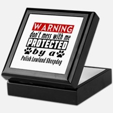 Protected By Polish Lowland Sheepdog Keepsake Box