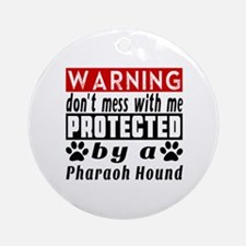 Protected By Pharaoh Hound Round Ornament