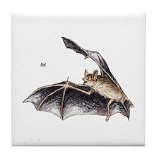 Bat for Bat Lovers Tile Coaster