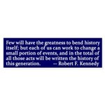 Robert F. Kennedy Activism Bumper Sticker