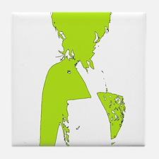 Stylish I Lime Tile Coaster