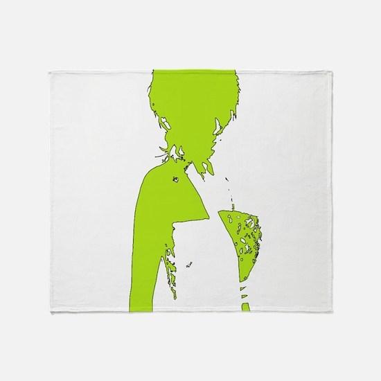 Stylish I Lime Throw Blanket