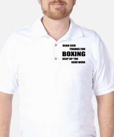 Dear God Thanks For Boxing T-Shirt