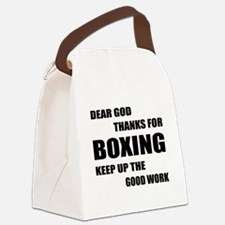 Dear God Thanks For Boxing Canvas Lunch Bag